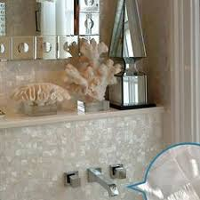 white square groutless pearl shell tile mosaic wall tiles