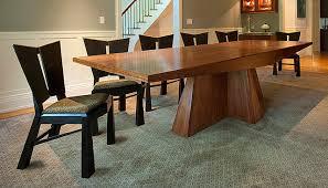 Walnut Dining Room Furniture Modern Walnut Dining Table And Ebonized Charis Modern Dining