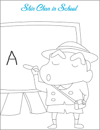 shin chan coloring pages game free coloring pages for kids