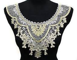 vintage lace collar necklace images Lace collar ebay JPG