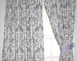 Black And Cream Damask Curtains Damask Curtains Etsy