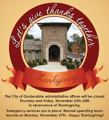 city of gardendale al municipal thanksgiving hours