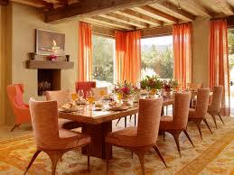 orange floral curtain fabric top natural wood ceiling design ideas