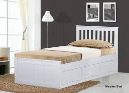 Single Pine Futon Sofa Bed With Mattress White Mission Children S 3ft Single Wooden Bed With 3 Drawers Storage