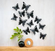 wall art ideas design blue black wall art butterfly contemporary