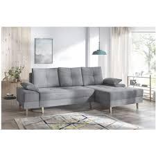 canapé d angle bois canape d angle convertible sven ii droit pieds bois enjoy gris