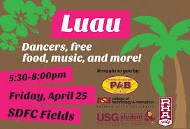 Asu Campus Map End Of The Year Luau At Polytechnic Campus April 25 Inner Circle