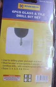 6 pc piece glass and tile drill bit set kit amazon co uk diy u0026 tools
