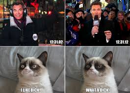 Grumpy Cat New Years Meme - rockin new years eve tard s reactions to then and now grumpy