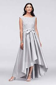 high low wedding dress with sleeves high low dresses david s bridal