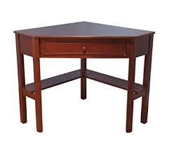 Corner Desk Cherry Wood Target Marketing Systems Wood Corner Desk With One