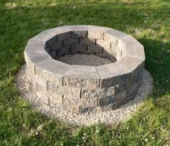 Firepit Blocks How To Build A Back Yard Diy Pit It S Easy The Garden Glove