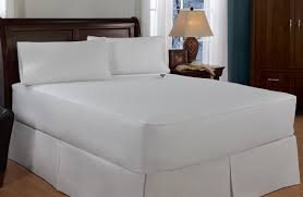 Good Thread Count Serta Damask Stripe 233 Thread Count Heated Mattress Pad