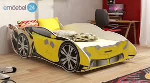 kinderzimmer 24 bett rennwagen car kinderbett gelb auto einzelbett emoebel24