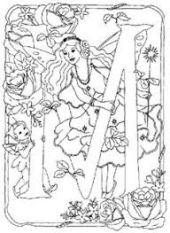 fashioned flower fairies coloring pictures print