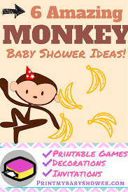 monkey invitations baby shower baby shower monkey theme guide