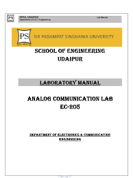 communication systems lab manual parameter computer programming