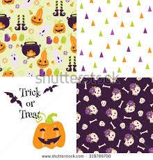 halloween funny design elements stock vector 223968628