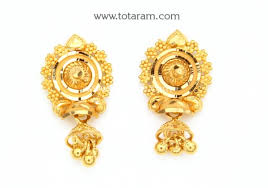 gold earrings for women images gold earrings for women in 22 karat gold 235 ger7318 in 3 950 grams