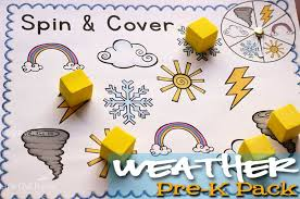 free printable weather pre k pack