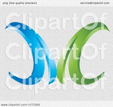clipart of a blue and green abstract letter m design royalty