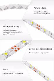 white led strips 5m dc 12v 36w smd5050 150 leds ip65 water