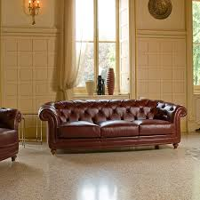 chesterfield sofa leather fabric 3 seater oxford berto