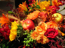thanksgiving bouquet fruit and flower arrangements ferns and flowers