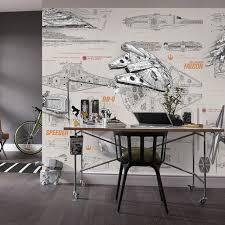spaceship bedroom 3d star wars wallpaper wall mural custom spaceship design blueprint