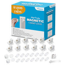 kitchen cabinet door magnets home depot vmaisi adhesive magnetic cabinet locks 12 locks and 2