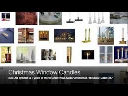 traditional and electric christmas window candles like led battery