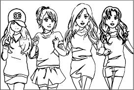 friend coloring pages coloringsuite