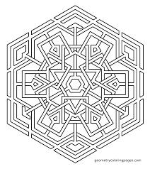 superb terrific geometric mandala coloring pages pin