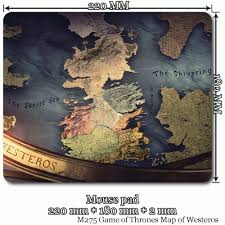 Map Pad Mouse Pad 22x18cm U0026 28x20cm For Movie M275 Game Of Thrones Map Of