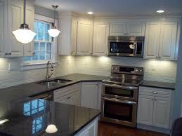 Biscotti Kitchen Cabinets Psi Kitchen 2 Kraftmaid Montclair Biscotti Black Pearl Granite