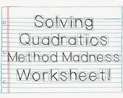 compare different methods for solving quadratic equations like