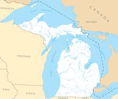 map of michigan michigan rivers and lakes mapsof net