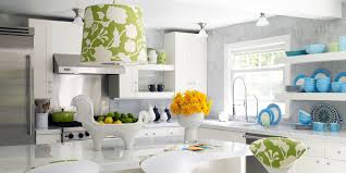 Interior Design Ideas For Kitchen Color Schemes Decorations Stylish Kitchen With White Color Scheme Also Fun