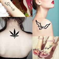 6 pieces body paint art henna tattoo stencil colored drawing