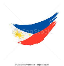 philippines flag vector illustration on a white background vector