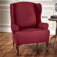 chair slipcovers australia wingback chair slipcovers sure fit slipcover fancy sure fit wing