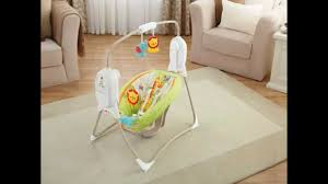 portable baby swing with lights fisher price rainforest portable baby swing review youtube