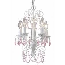White Chandeliers Shop Canarm Danica 12 In 5 Light White Candle Chandelier