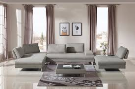 Coffee Table For Sectional Sofa Divani Casa Baxter Modern Grey Fabric Sectional Sofa Coffee