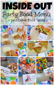 inside out party inside out party food menu printable food labels eclectic momsense