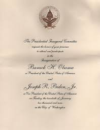Official Invitation Card Sample File Inaugural Invitation 2009 Jpg Wikipedia