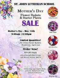 Mother S Day Flower Mother U0027s Day Flower Baskets U0026 Starter Plant Sale St John