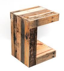 Wood Side Table Reclaimed Wood C Side Table Home Furniture Raka Mod