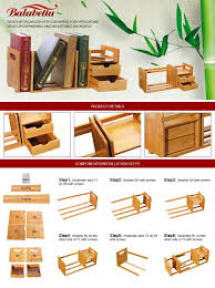 Home Office Desk Components by Amazon Com Natural Bamboo Desk Organizer With Extendable Storage
