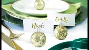 diy bauble ornament place card holder birdspartytricks